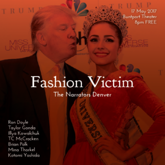 """This Wednesday in Denver: """"Fashion Victim"""""""