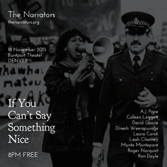 "This Wednesday in Denver: ""If You Can't Say Something Nice"""