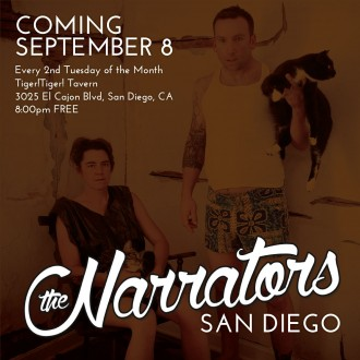 The Narrators San Diego is coming September 8
