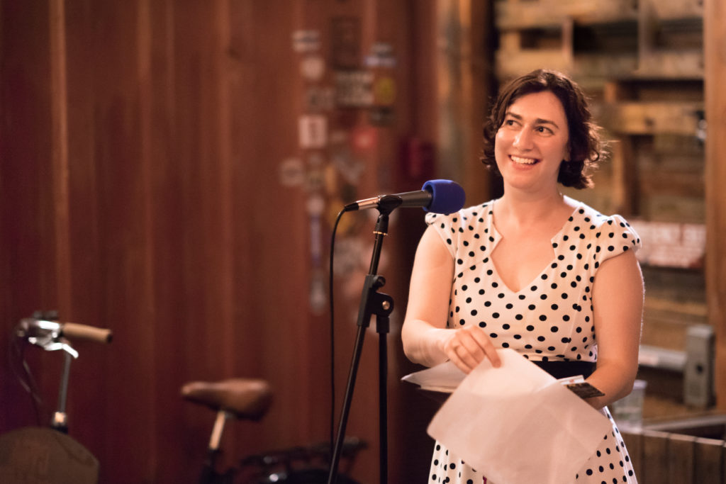 Sarah Nathan at The Narrators San Diego on 11 April 2017.