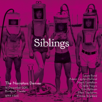 "This Wednesday in Denver: ""Siblings"""