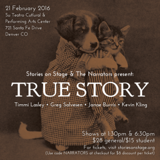 "Sunday in Denver: ""True Story,"" a special collaboration with Stories on Stage"